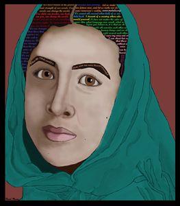 Malala Yousafzai Portrait & Quotes
