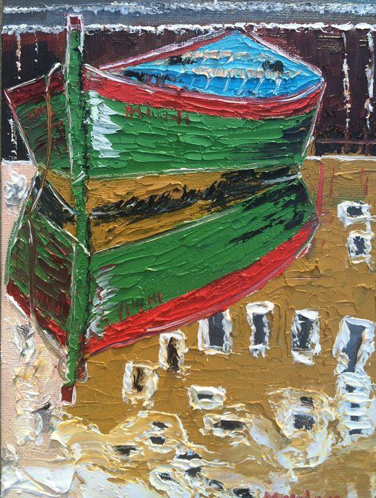 Boat reflection - Inna Montano fine art
