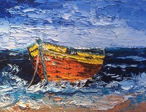 Boat in a ocean