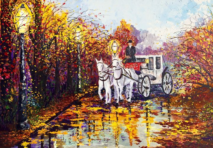 Autumn carriage - Inna Montano fine art