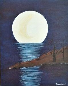Moon light effect on ocean