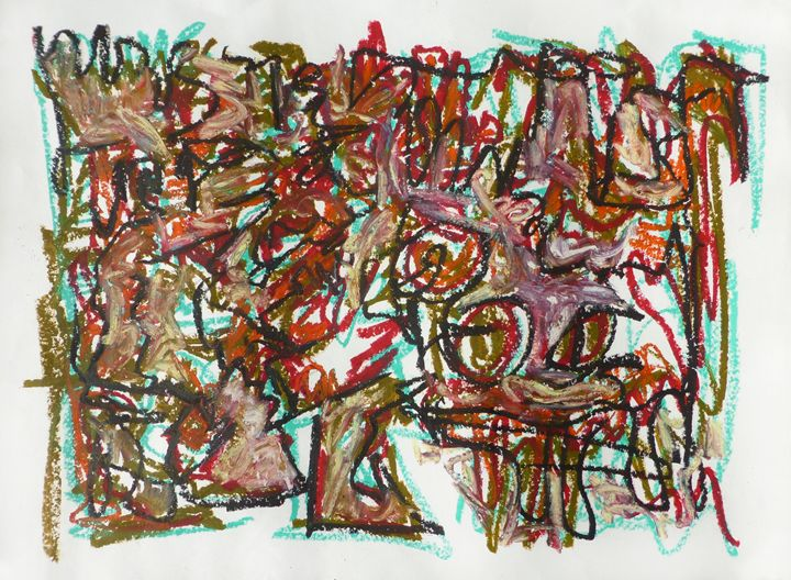 Abstract Birds and Trees - Allison Lampron