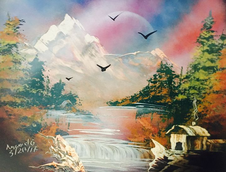 Cabin By The Lake - Joy Of Spray Painting