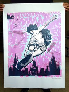 Skaten Angel Screen Print Poster