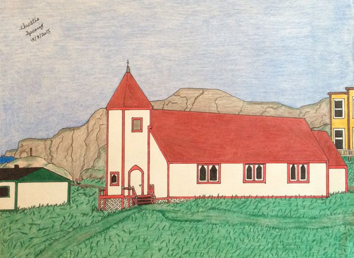Battle Harbour Church #3 - Christine's Artwork