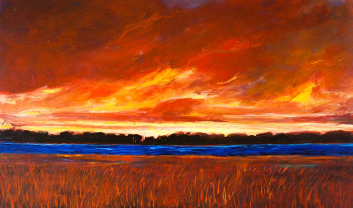 Red Sky and Red Field - Patty Baker