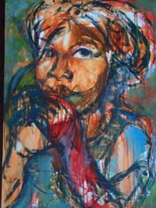 young Zim girl 46 x 62 cm
