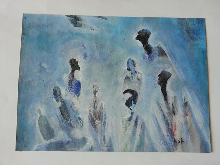 gathering in the mist - Modern African