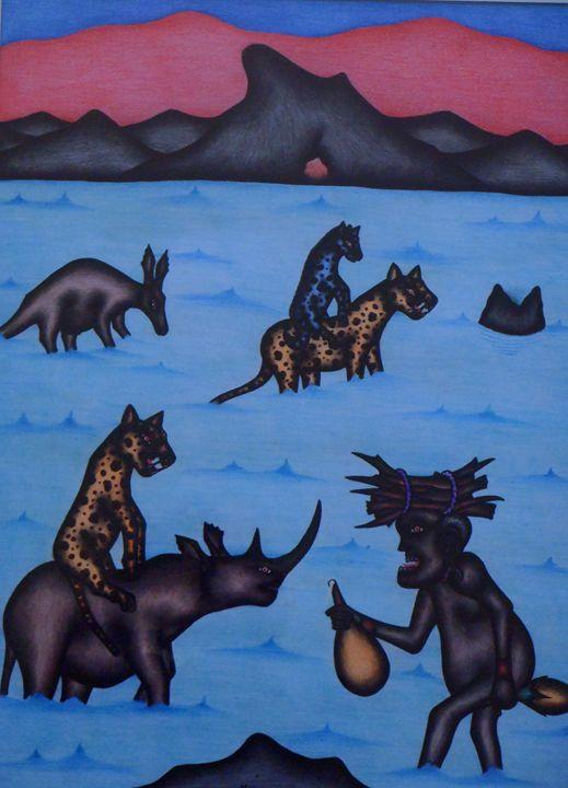 famous Kenyan artist 45 x 60 cm - Modern African