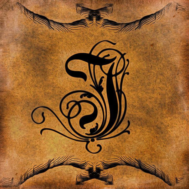 Beautiful Monogram Letter I - Calligraphy