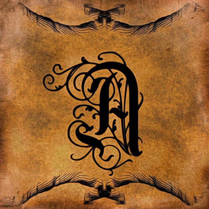 Beautiful Monogram Letter A - Calligraphy