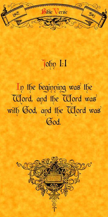 Bible Verse John 1:1 - Calligraphy