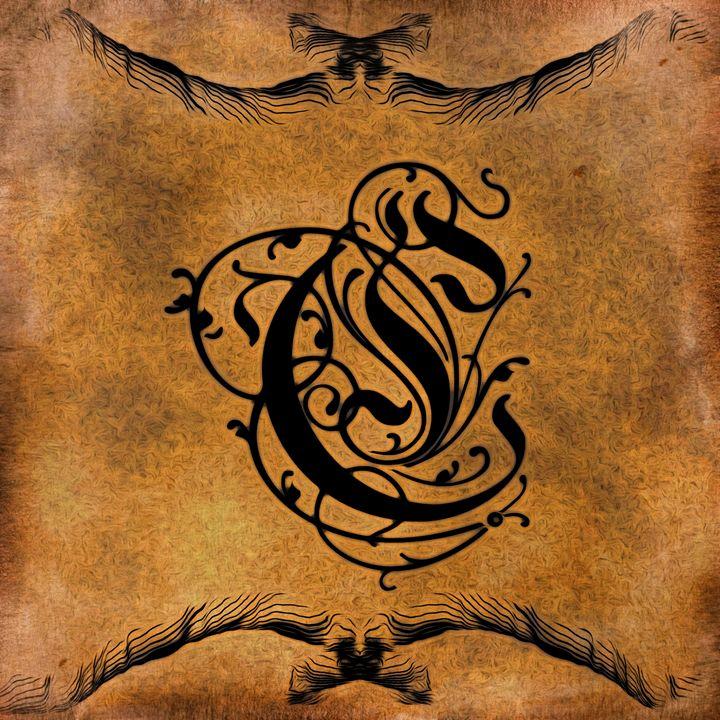 Beautiful Monogram Letter C - Calligraphy