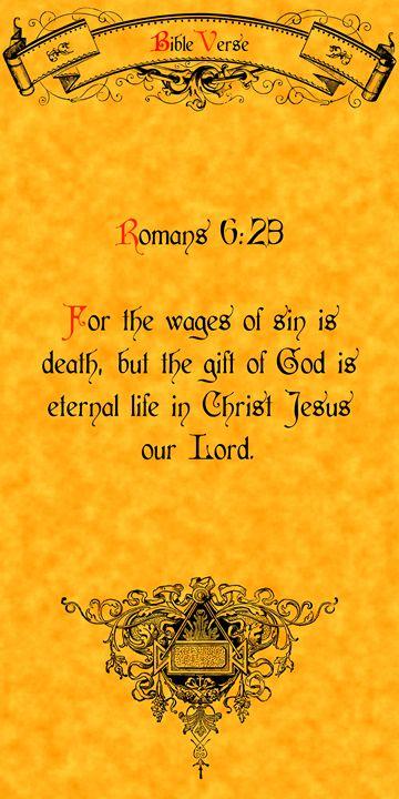Bible Verse Romans 6:23 - Calligraphy