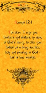 Bible Verse Romans 12:1
