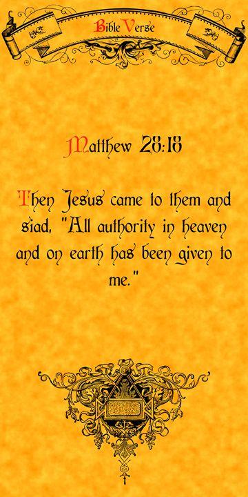 Bible Verse matthew 28:18 - Calligraphy