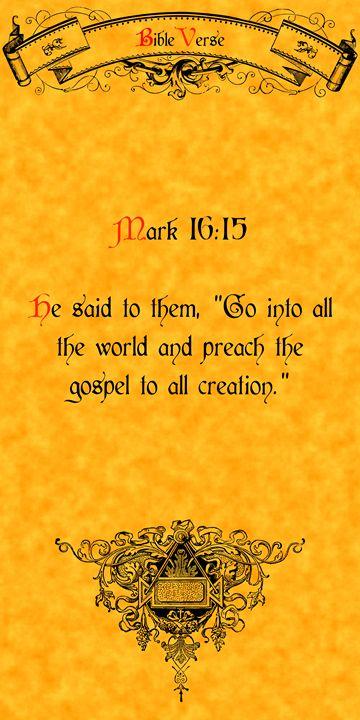 Bible Verse Mark 16:15 - Calligraphy