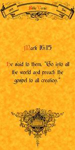 Bible Verse Mark 16:15