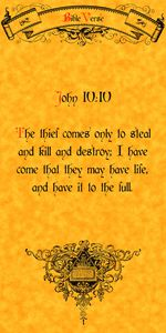 Bible Verse John 10:10