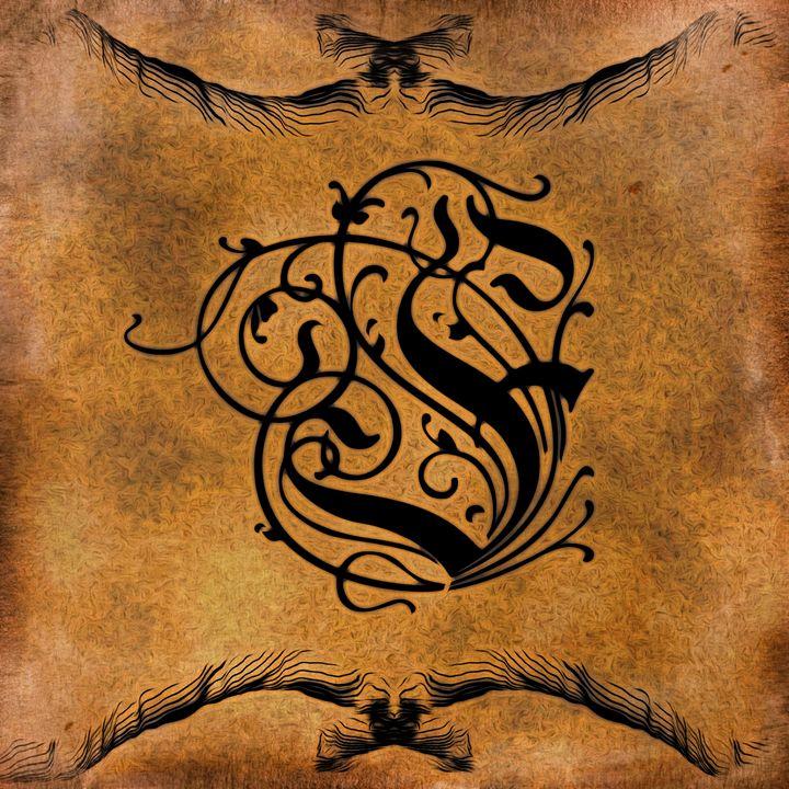 Beautiful Monogram Letter F - Calligraphy