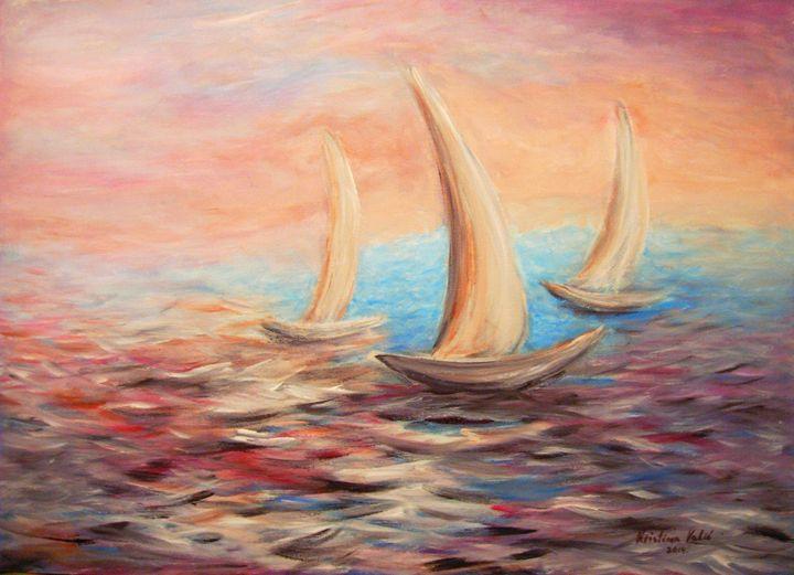 Sailboats - KristinaValicArt