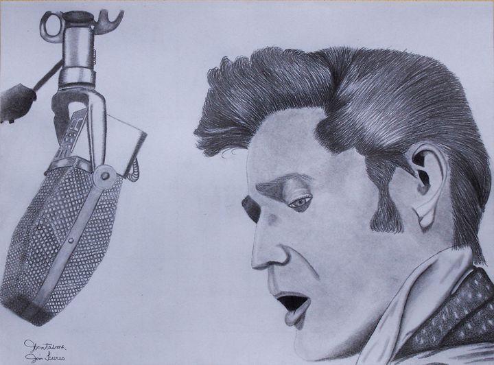 Elvis Graphite Drawing - JFantasma Artistry
