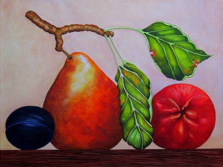 Pear, Plum, Apple II - Southwest & Florals by Carol