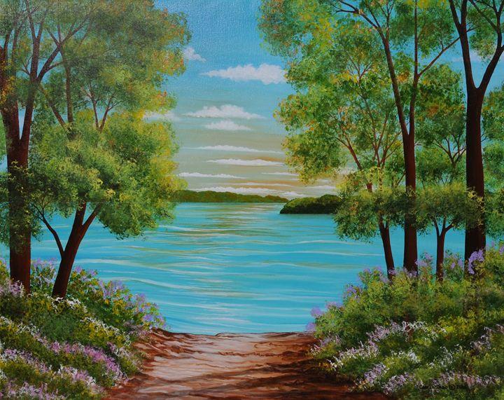 Merrimac River, Groveland Mass. - Southwest & Florals by Carol