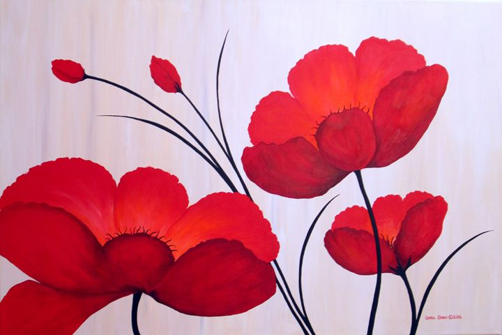 Oriental Poppies - Southwest & Florals by Carol