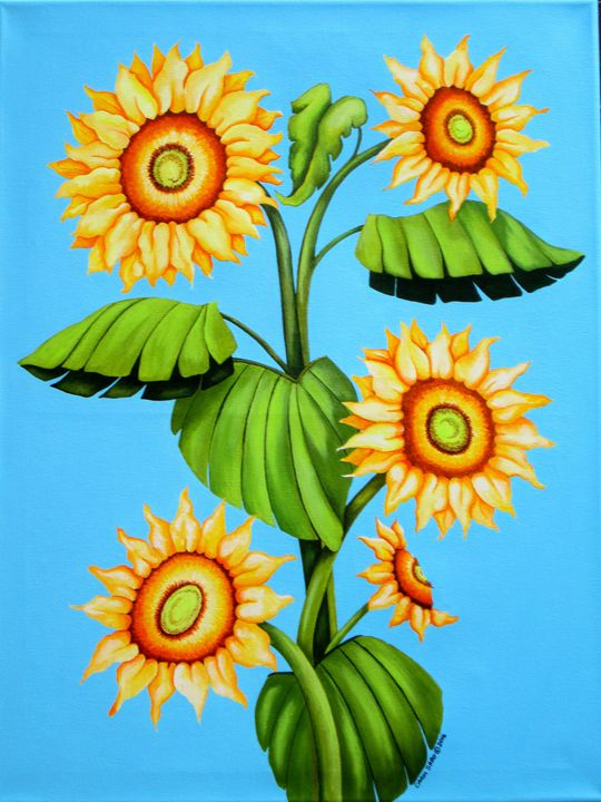 Sunflower Family - Southwest & Florals by Carol