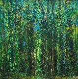 120x120cm large original painting