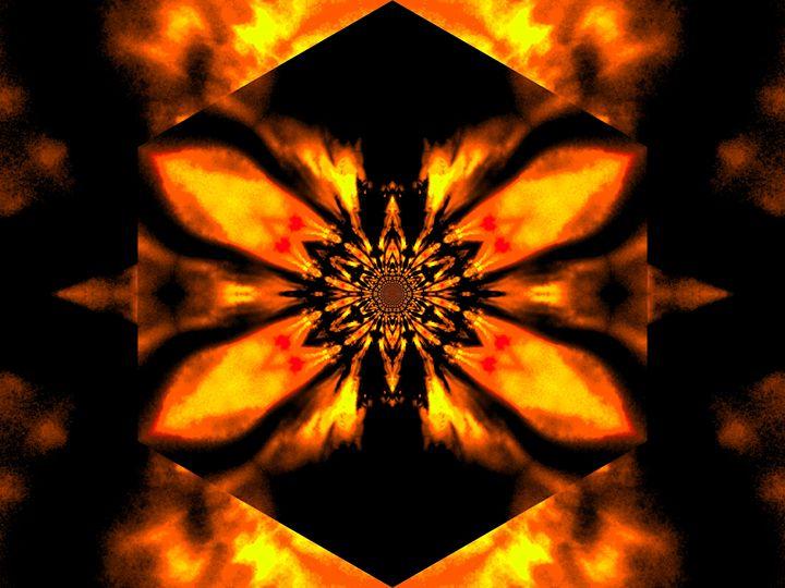 Fire Lotus Orange 2 - Sherrie D. Larch