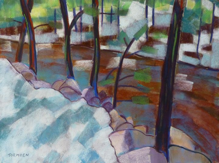 Tree-lined Creek in Estes Park - Susan Tormoen