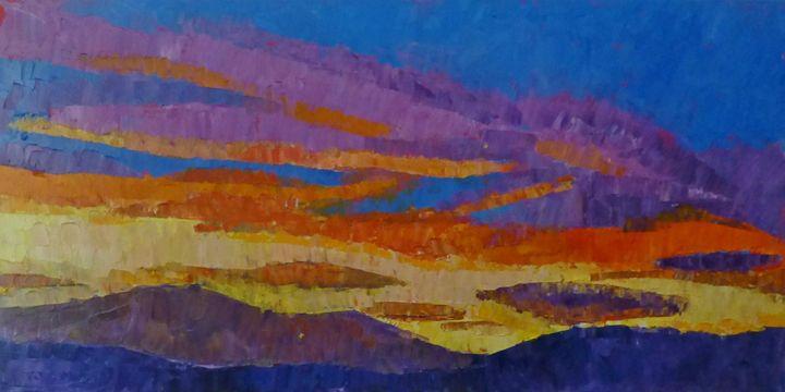 Sunset Over Pikes Peak - Susan Tormoen