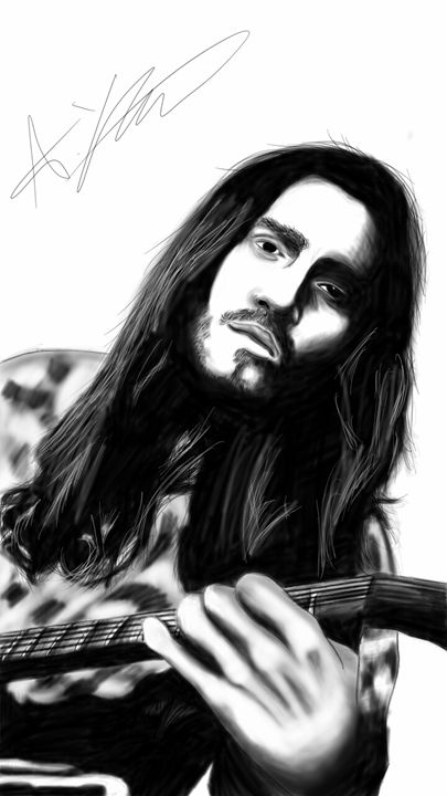 John from red hot chilli peppers - Andys Awesome Art