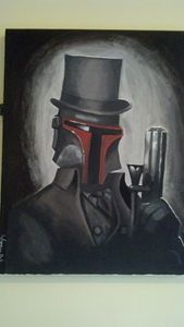 SteamPunk Boba Fett Painting