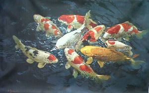 Magnificent 9 Koi by Sumantri