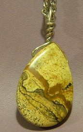 Owyhee Jasper Wrapped Pendant - Auntie Bump's collection