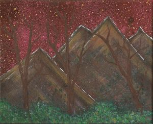 Vibrant sky Mountain