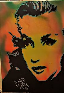 Marilyn Monroe portrait - Dark Castle Art
