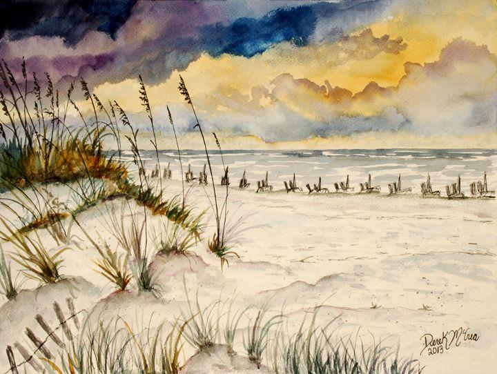 Destin Florida Beach Art - Watercolor-Art