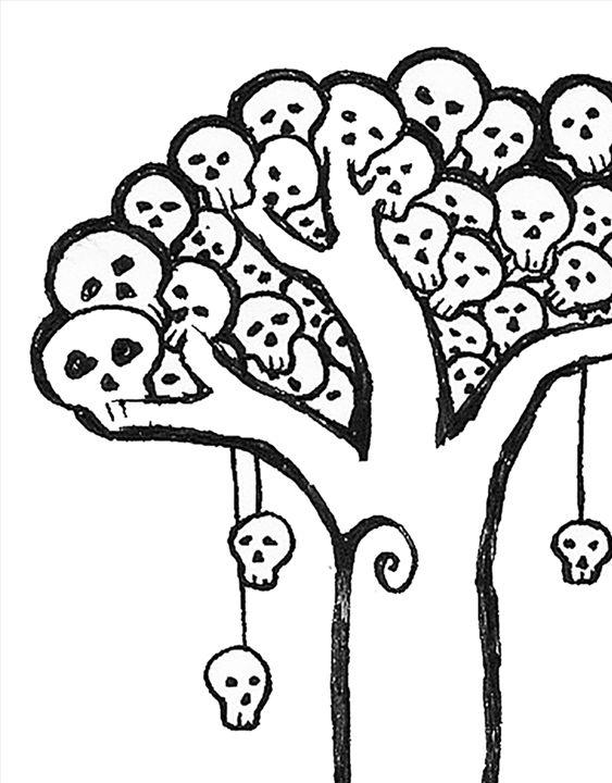 Skull Tree - Pastel Palette