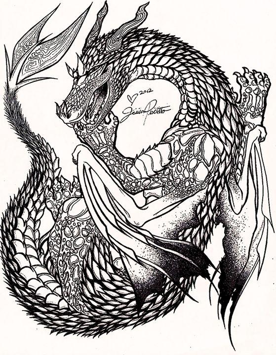 Dragon Stipple - Pastel Palette