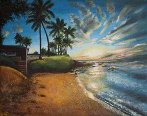 """Hawaii"" Oil on Canvas Painting"