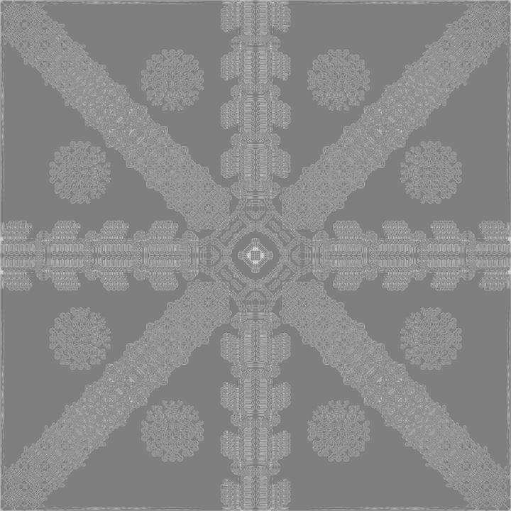 Grey Ink Snowflake - Ink Snowflakes