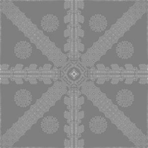 Grey Ink Snowflake