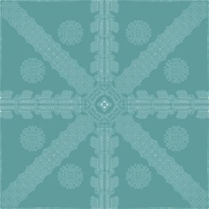 Cyan Ink Snowflake