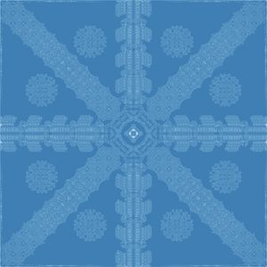 Cyan-Blue Ink Snowflake