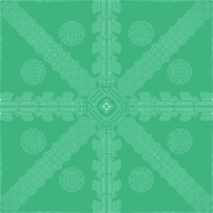 Cyan-Green Ink Snowflake