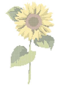 Cross stitch sunflower